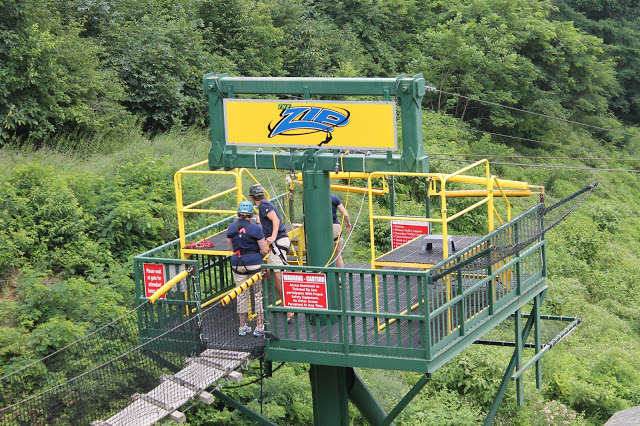 zip line at Wintergreen Resort
